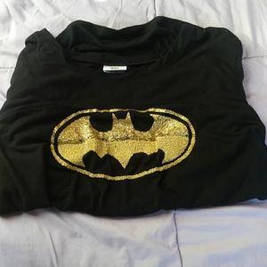 Glitter Batman Short Sleeve Shirt